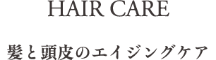 HAIR CARE 頭と頭皮のエイジングケア